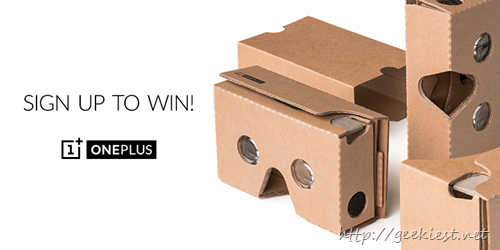 OnePlus Cardboard–Price, Availability and Giveaway