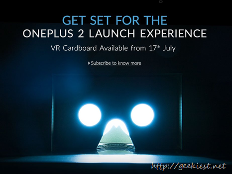 OnePlus Cardboard will be available in India from July 17 2015