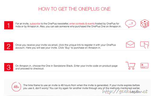 OnePlus One–How to get an Invitation steps