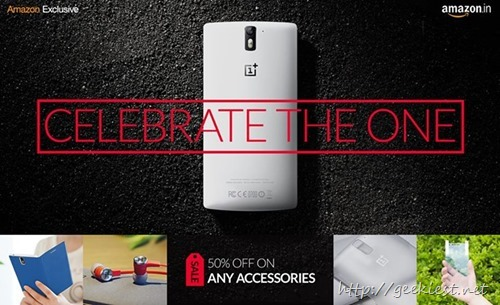 OnePlus One accessories–Flat 50 percent OFF