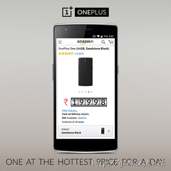 OnePlus announce Price Drop of OnePlus One in India