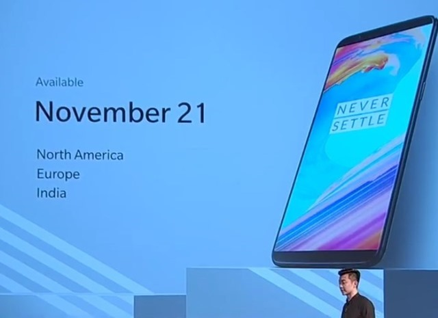 Oneplus 5T official launch India US UK Europe