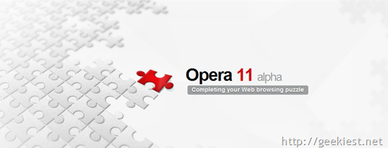 Opera 11 Alpha released with Extensions