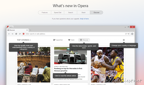 Opera 15 new features - 1