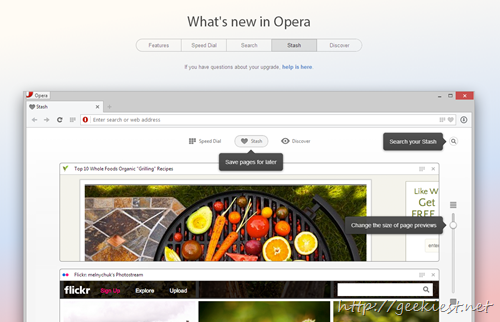 Opera 15 new features - 2