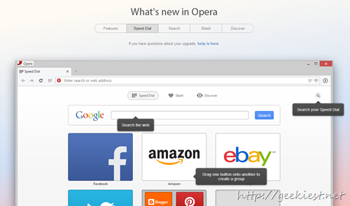 Opera 15 new features - 4