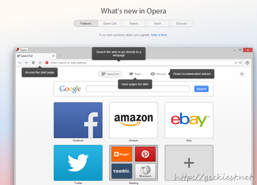 Opera 15 new features - 5