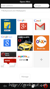 Opera Mini for Windows Phones