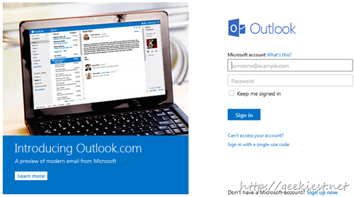 Outlook new email service