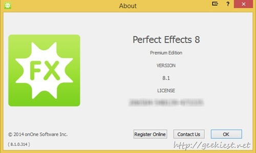 PERFECT EFFECTS 8  Premium Edition activated