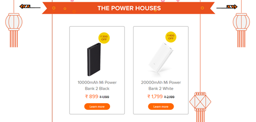 POwerbank discount sale diwali