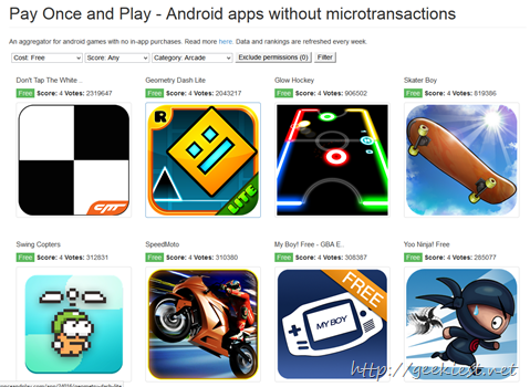 Pay Once and Play - Android apps without microtransactions