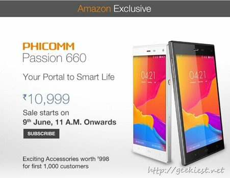 Phicomm Passion 660 registration India
