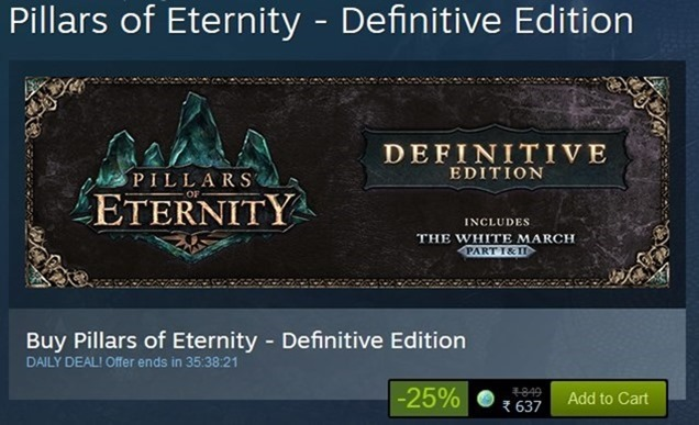Pillars of Eternity Definitive Edition Steam