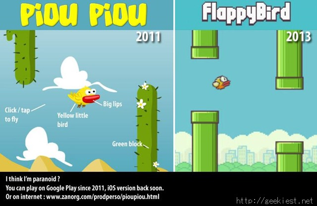 Piou Piou vs Flappy Bird