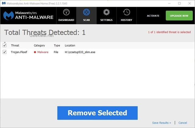 Piriform CCleaner infected malware