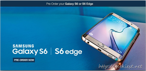 Pre order  Samsung S6 or Samsung S6 Edge India