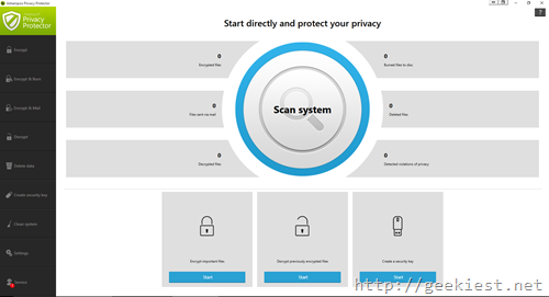Privacy protector home screen