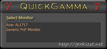 QuickGama-multiple monitor