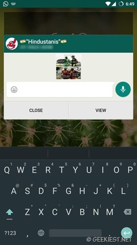 Quick reply shows last message on whatsapp