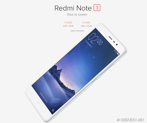 Redmi Note 3 32GB flash sale