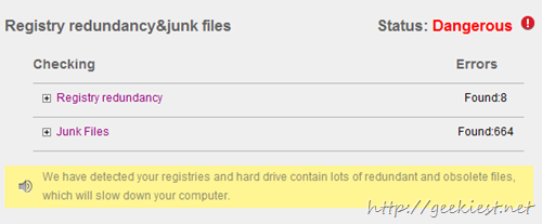 Registry redundancy , junk files