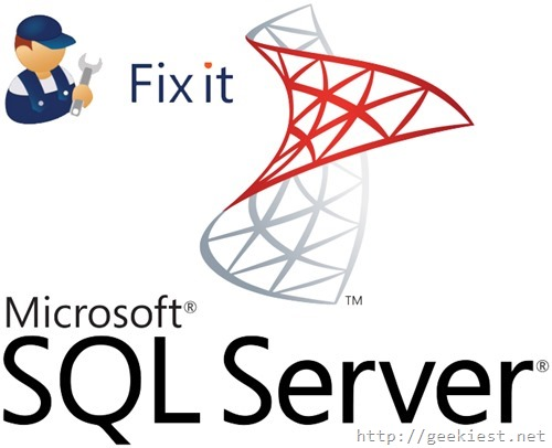 SQL server How to Fix