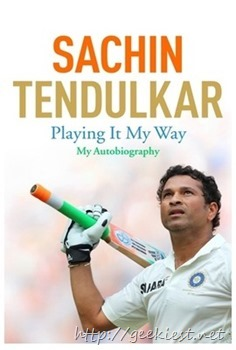 Sachin Tendulkar - Playing it My Way - Autobiography of Sachin Tendulkar is available for Pre-order