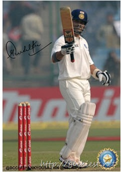 Sachin Tendulkar digitally autographed photo - 1