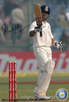 Sachin Tendulkar digitally autographed photo 8
