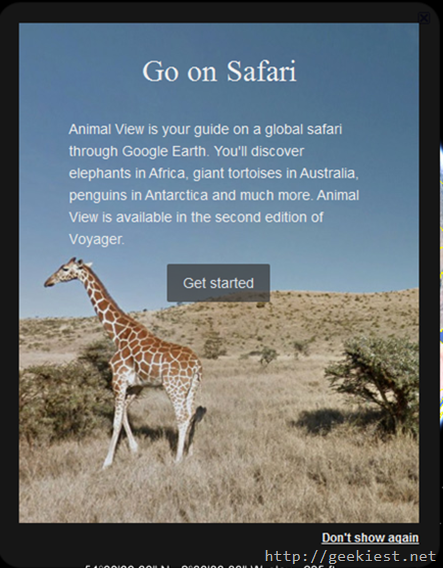 Safari Google earth
