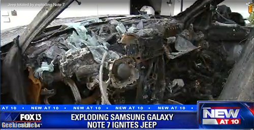 Samsung Galaxy Note 7 Destroyed JEEP