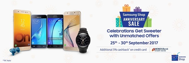 Samsung India Anniversary Sale 2017 deals revealed