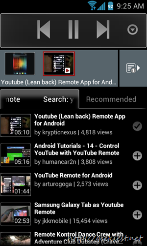 YouTube Remote - Control YouTube videos on your desktop computer or Internet TV using your Android phone