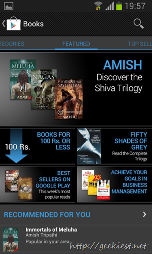 Google Play Books Available  India