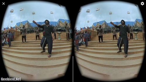 Sets of Bahubali 2 in Virtual Reality