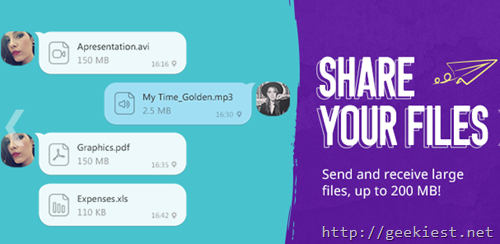 Share files with your contacts  using viber