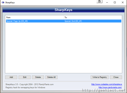 Sharpkeys reMap keys Windows