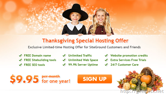 Siteground Hosting Special Offer