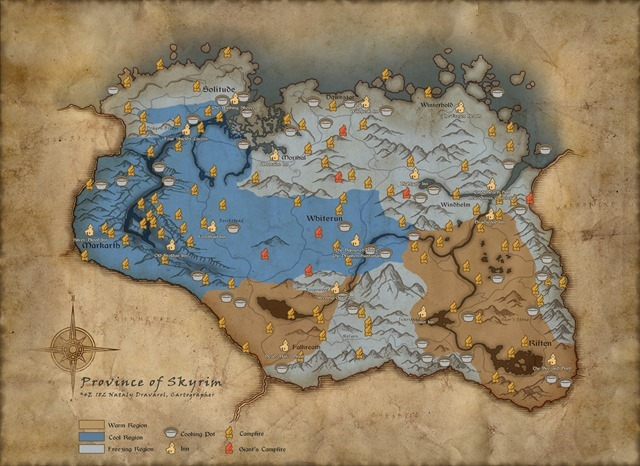 Skyrim Special Edition Survival Mode Map