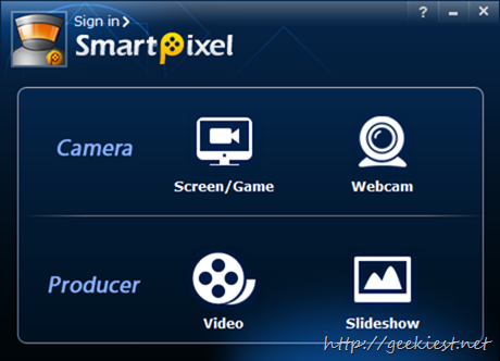 SmartPixel  Camera and Producer