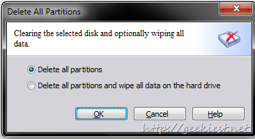 Aomei Partition Assistant Delete Partition