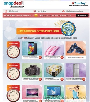 Snapdeal Diwali offer