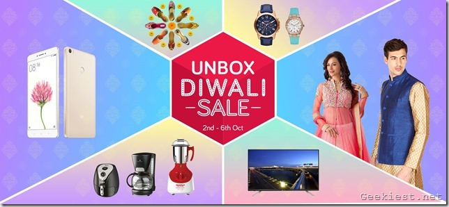 Snapdeal Unbox Diwali Sale October 2016