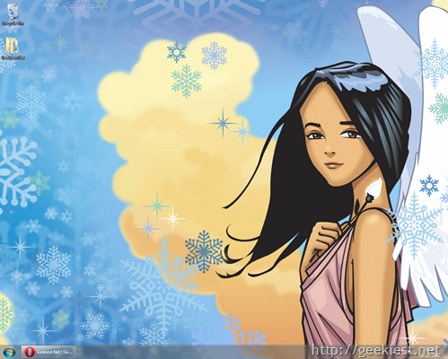Snow Angel Windows 7 Theme