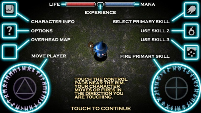 Solomon's Boneyard Android controls