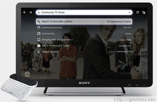 Sony Announced Internet TV powered by Google TV