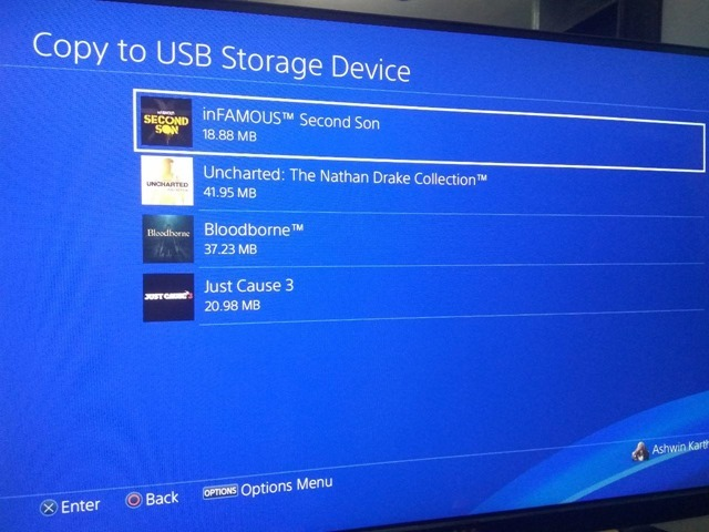 Sony PS4 Backup Save Data