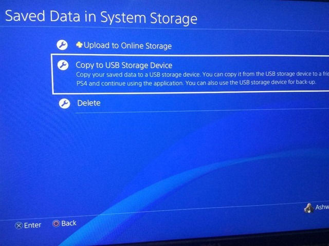 Sony PS4 Backup Save Data 1