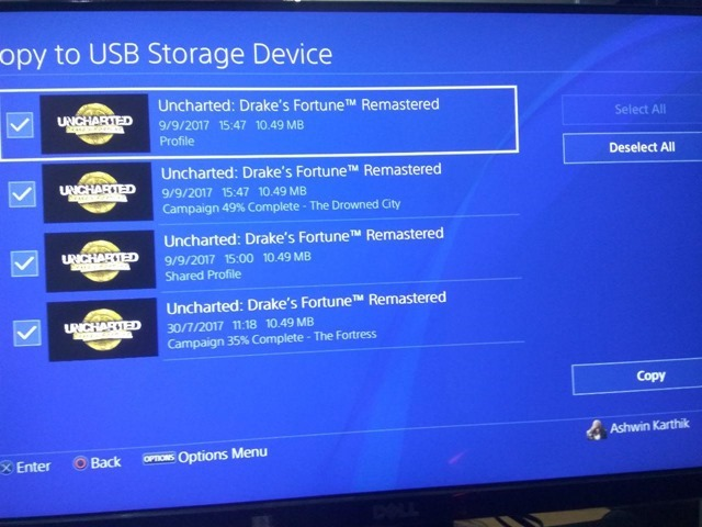 Sony PS4 Backup Save Data 4